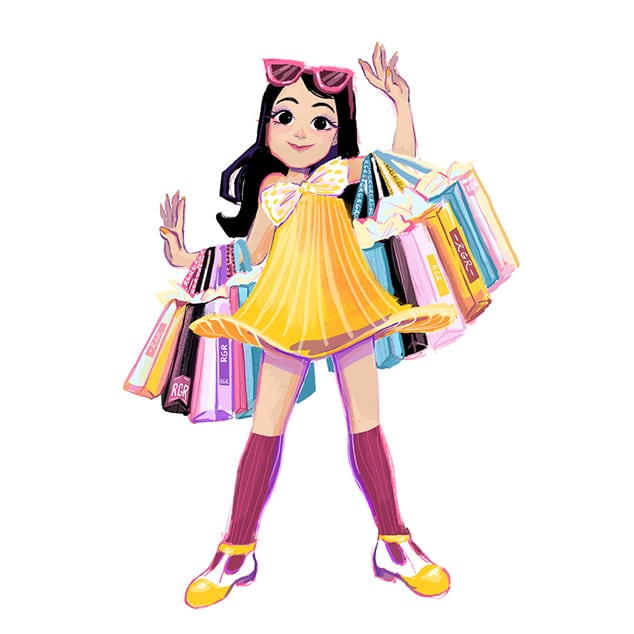 shopping geeves illustration